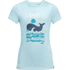 Jack Wolfskin Ocean T-Shirt Kinder blau blau