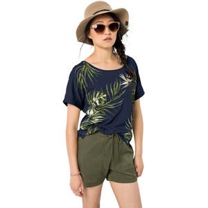 Jack Wolfskin Tropical Leaf T-Shirt Damen midnight blue midnight blue