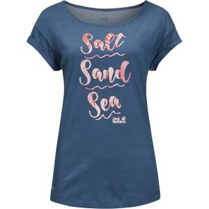 Jack Wolfskin Salt Sand Sea T-shirt Dames, blauw blauw
