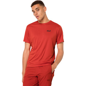 Jack Wolfskin Tech Tee Men, lava red lava red