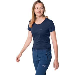 Jack Wolfskin Tech T-Shirt Damen dark indigo dark indigo