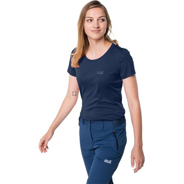 Jack Wolfskin Tech T-Shirt Damen blau