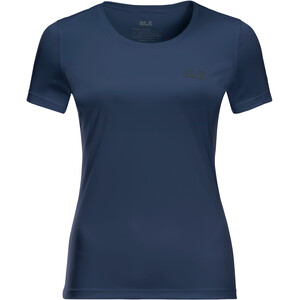 Jack Wolfskin Tech T-Shirt Damen blau blau