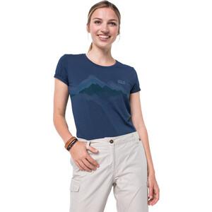 Jack Wolfskin Crosstrail Graphic T-Shirt Damen dark indigo dark indigo