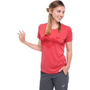 Jack Wolfskin Crosstrail Graphic T-Shirt Damen tulip red tulip red