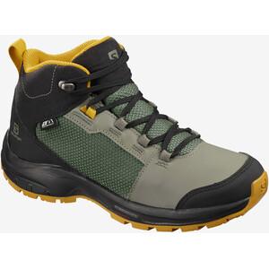 Salomon OUTward CSWP Shoes Kids castor gray/black/arrow wood castor gray/black/arrow wood