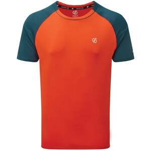Dare 2b Peerless T-shirt Homme, orange/Bleu pétrole orange/Bleu pétrole