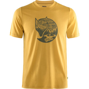 Fjällräven Abisko Fox Kurzarm-Wollshirt Herren gelb gelb