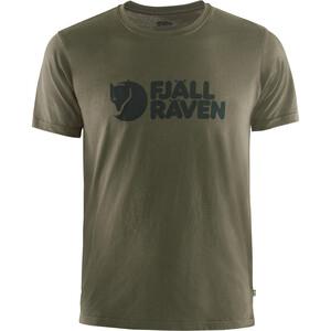 Fjällräven Logo T-Shirt Herren oliv oliv