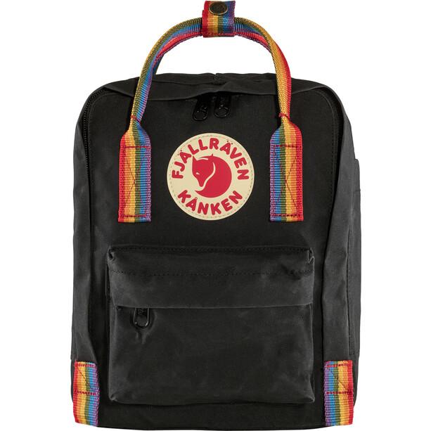 Fjällräven Kånken Rainbow Mini Selkäreppu Lapset, musta/monivärinen