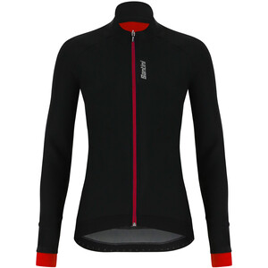 Santini Stella Windproof Jacke Damen black/red black/red