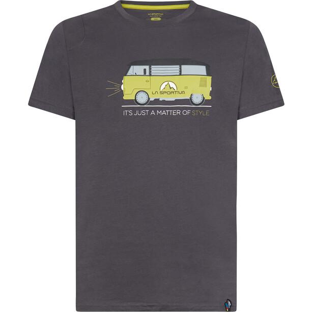 La Sportiva Van T-Shirt Herren carbon/kiwi