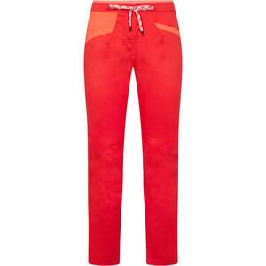 La Sportiva Temple Pantalones Mujer, rojo rojo