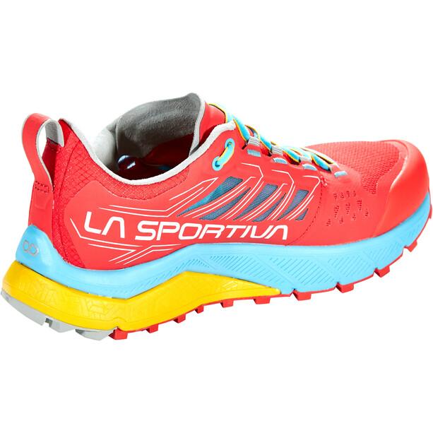 La Sportiva Jackal Laufschuhe Damen hibiscus/malibu blue