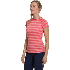 Berghaus Stripe Tech 2.0 Rundhals-Kurzarmshirt Damen cayenne/vaporous grey cayenne/vaporous grey