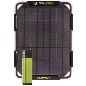 Goal Zero Flip 12 Solar Kit Nomad 5 schwarz schwarz