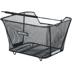 Basil Lesto Rear Wheel Basket, black black