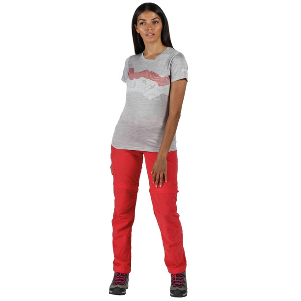 Regatta Fingal V T-Shirt Damen grau