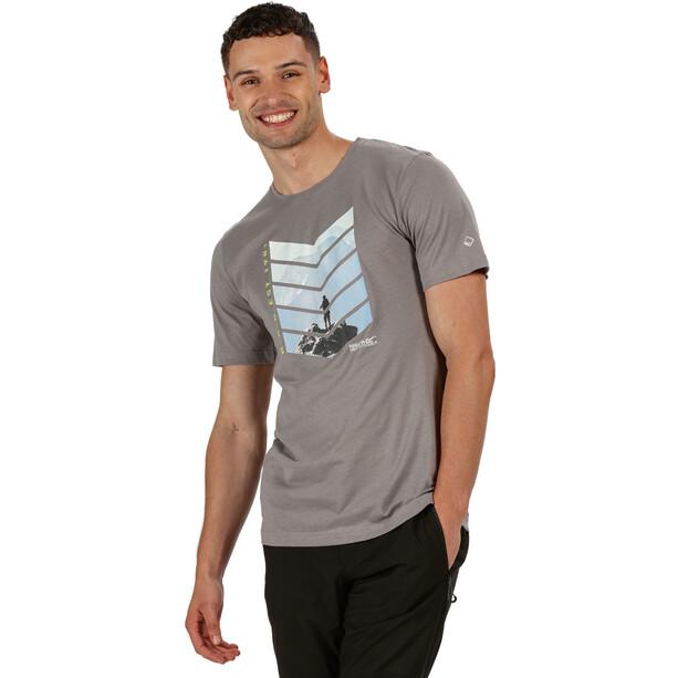Regatta Breezed T-Shirt Herren grau