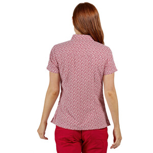Regatta Mindano V T-Shirt Women, dark cerise print dark cerise print