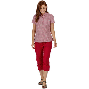 Regatta Mindano V T-Shirt Damen dark cerise print dark cerise print