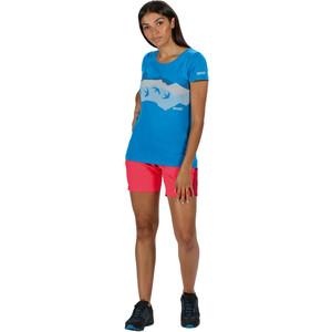 Regatta Sungari II Shorts Damen neon pink/dark cerise neon pink/dark cerise