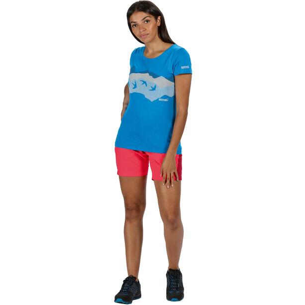 Regatta Sungari II Shorts Damen neon pink/dark cerise