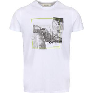 Regatta Cline IV Camiseta Hombre, blanco/gris blanco/gris