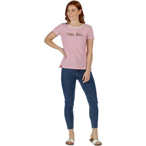 Regatta Olwyn T-Shirt Damen true red stripe true red stripe