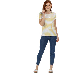 Regatta Olwyn T-Shirt Damen yellow sulphur stripe yellow sulphur stripe