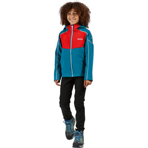 Regatta Acidity IV Soft Shell Jacke Kinder olympic teal/fiery red/gulfsteam reflective olympic teal/fiery red/gulfsteam reflective