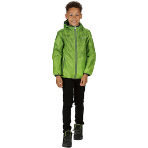 Regatta Printed Lever Waterproof Shell Jacke Kinder electric lime electric lime