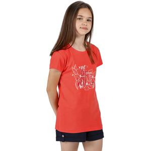 Regatta Bosley III T-Shirt Kids, fiery coral fiery coral
