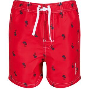 Regatta Skander II Shorts Kinder true red palm print true red palm print