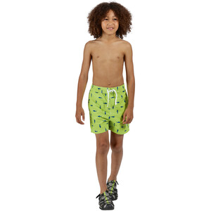 Regatta Skander II Shorts Kinder electric lime shark print electric lime shark print
