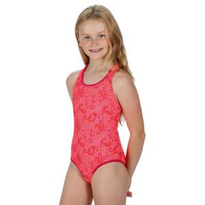 Regatta Tanvi Swimsuit Kids fiery coral seahorse fiery coral seahorse