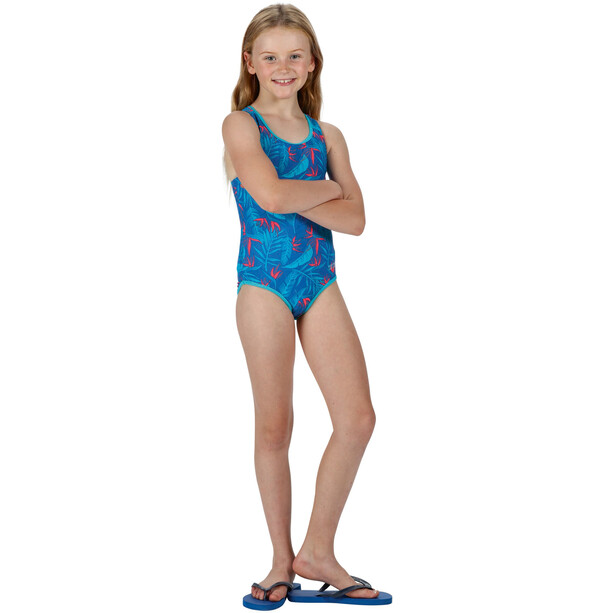 Regatta Tanvi Badeanzug Kinder victoria blue tropical