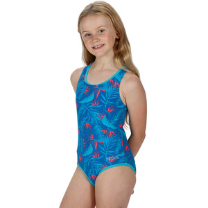 Regatta Tanvi Swimsuit Kids victoria blue tropical victoria blue tropical