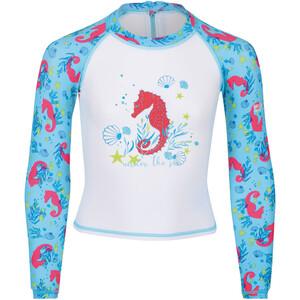Regatta Valo Rash Swimsuit Kids vit/blå vit/blå
