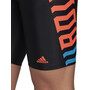 adidas Fit Lineage Jammer-uimahousut Miehet, black/app solar red/shock cyan