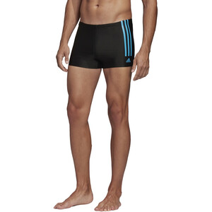 adidas Fit Semi3S Schwimm-Boxershorts Herren black/shock cyan black/shock cyan