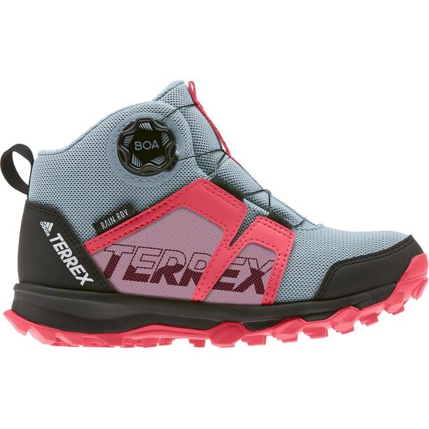 adidas TERREX Boa Mid Rain.RDY Chaussures de randonnée Enfant, gris/rose gris/rose