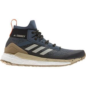 adidas TERREX Free Hiker Wanderschuhe Herren legacy blue/metal grey/raw desert legacy blue/metal grey/raw desert