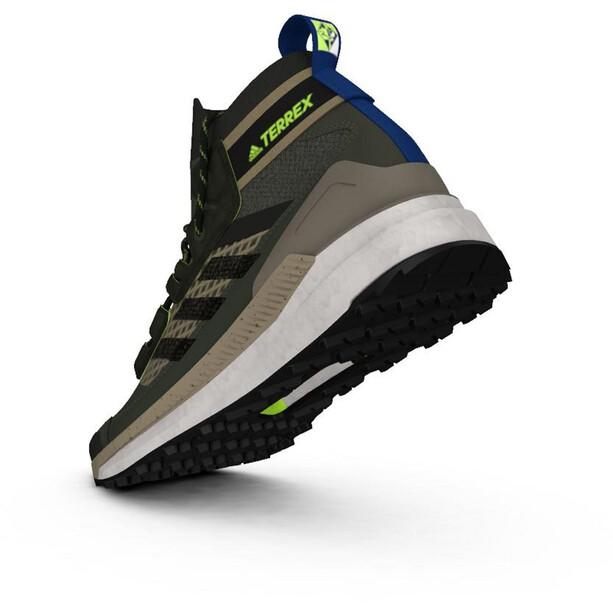 adidas TERREX Free Hiker Blue Wanderschuhe Herren grau/oliv
