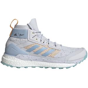 adidas TERREX Free Hiker Parley Wanderschuhe Damen dash grey/easy blue/real gold dash grey/easy blue/real gold