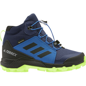 adidas TERREX Mid Gore-Tex Wanderschuhe Kinder tech indigo/core black/signal green tech indigo/core black/signal green