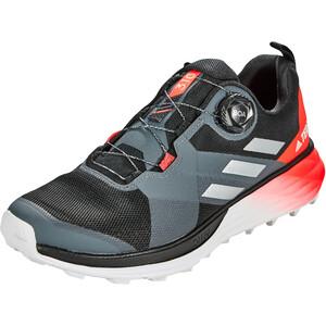 adidas TERREX Two Boa Trail Running Schuhe Herren core black/silver metal/solar red core black/silver metal/solar red
