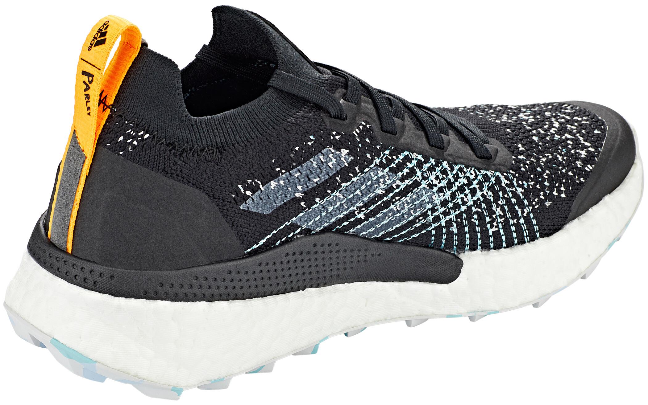adidas TERREX Two Ultra Parley Trail Running Schuhe Damen core blackdash greyblue spirit
