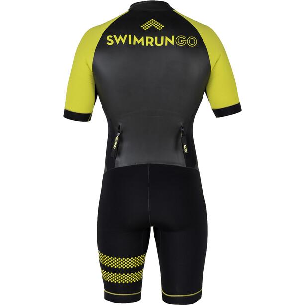 Colting Wetsuits Swimrun Go Combinaison Homme, black/yellow