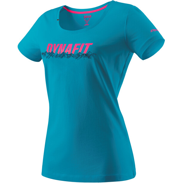 Dynafit Graphic Katoenen T-shirt Dames, blauw